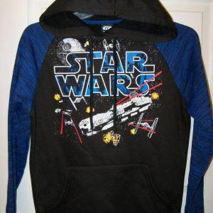 Star Wars Space Ship Galaxy Black Hoodie Jacket Mens