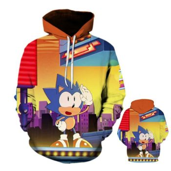 Anime Sonic The Hedgehog Hoodies Sweatshirt Pullover Coat
