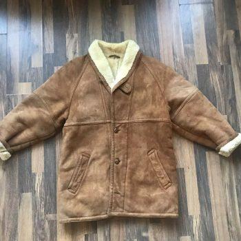 Vintage Beige Shearling Jacket