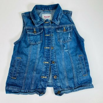 Mossimo Supply Co Womens Jean Vest Blue Denim Sleeveless Jacket