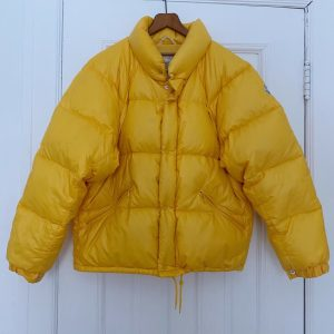 Vintage Moncler Yellow Puffer Down Jacket Made in France