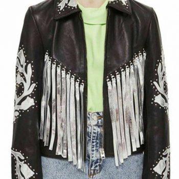 Birds Of Prey Harley Quinn Fringe Leather Jacket