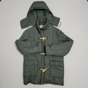 Vintage McGregor Trench Coat Plaid Lined Jacket Green Parka Winter