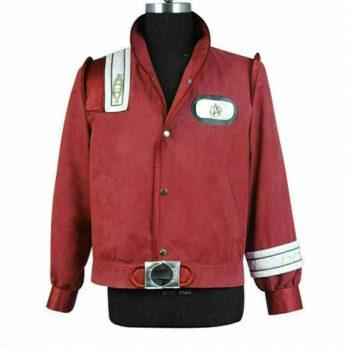 Star Trek III-V Bomber Uniform Adult Wine Red Cosplay Jacket