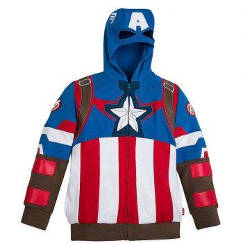 Captain Marvel America Kids Hooded Jacket