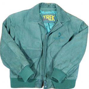 Mens STAR TREK Leather Bomber Jacket
