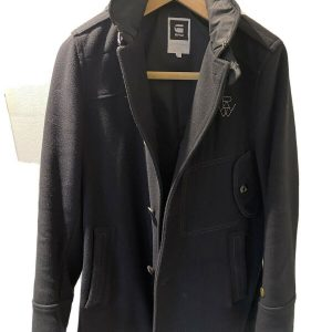 G STAR LONG WINTERS DECOY WOOL TRENCH COAT HARDLY WORN