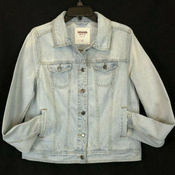 Ladies Mossimo Supply Co Light Washed Denim Blue Jean Jacket