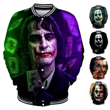 Men Women Coat Movie JOKER 3D Print Baseball Uniform Shirt Jacket