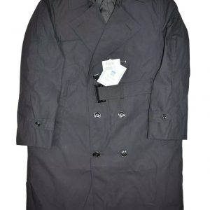 New DSCP Garrison Collection Trench Coat Mens 40 S All Weather Army Black Lined