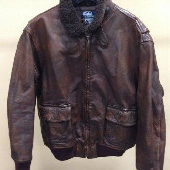 Vintage POLO Ralph Lauren Shearling Leather Bomber Flight Aviator Jacket RRL