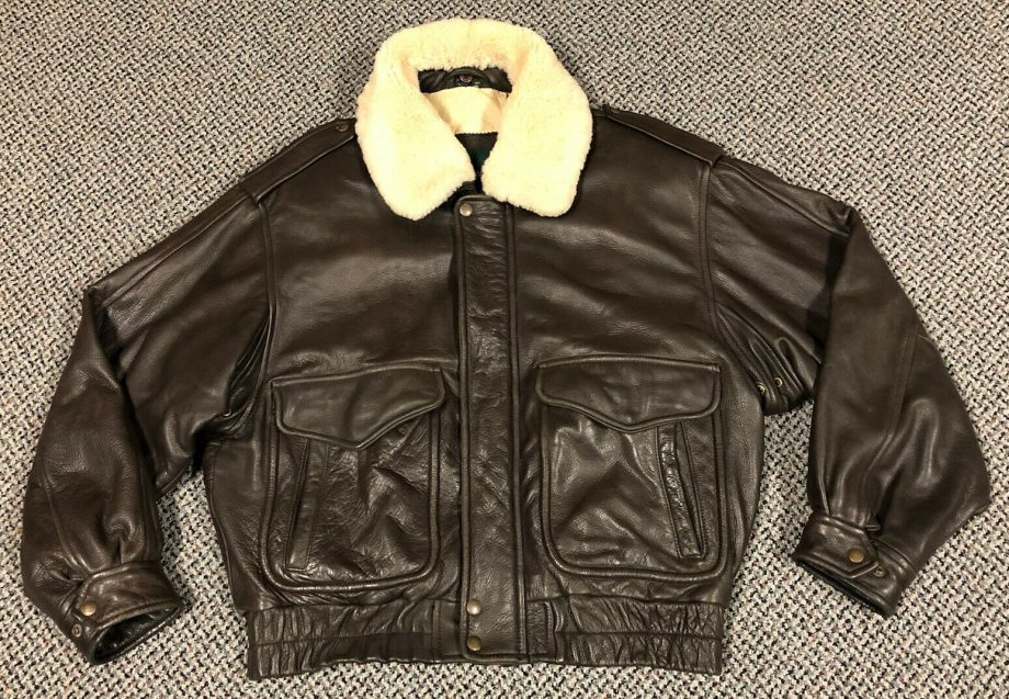 Andrew Marc New York Bomber Jacket w/ Shearling Collar Mens Size Large
