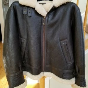 Vintage Mens Cabelas Shearling/Leather Bomber Jacket/Coat - M - Made in Uruguay