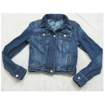 Aeropostale Blue Denim Jeans Jacket Coat Solid Woman's Women's Cotton Size Small