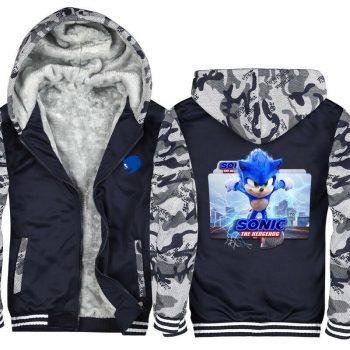 Sonic the Hedgehog Warm Hoodies winter Fleece Jacket