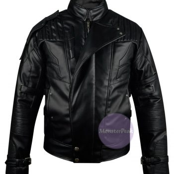 Guardians of the Galaxy 2 Black Leather Jacket, Star-Lord Jacket