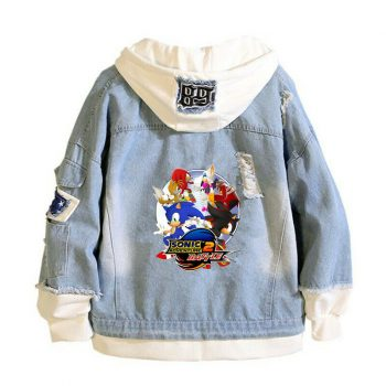 Sonic the Hedgehog Denim Jacket Hoodie