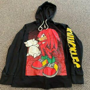 Sonic the Hedgehog Knuckles Zip Front Hoodie Jacket