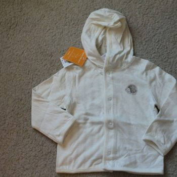 New Baby Ivory Hedgehog Hooded Jacket