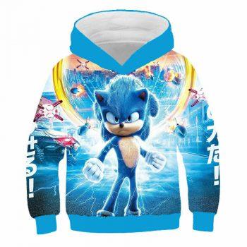 Sonic the Hedgehog Boys Hoodie Jumper Jacket