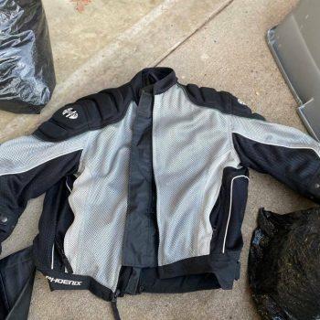Rocket Men's black motorcycle riding jacket