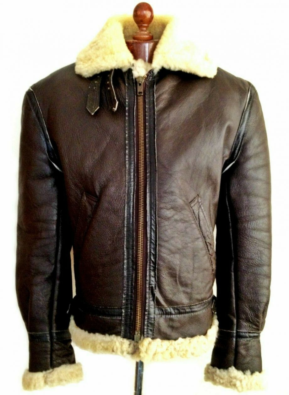 Aviator Shearling Flying Pilot Leather Jacket