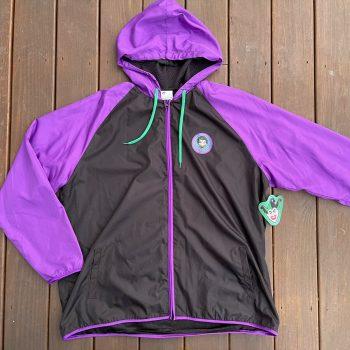 The Joker Batman Zip Up Hooded Jacket Purple Black