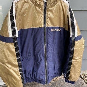 Vintage STARTER Irish Puffer Zip Front Men's Jacket