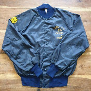Vintage Men's Butwin Medium Blue Bomber Jacket