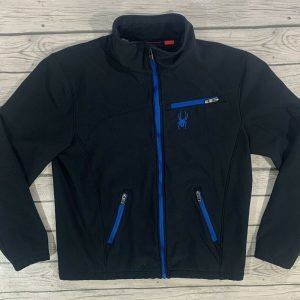 Spyder Men's Sweater Jacket Full Zip Blue/Black