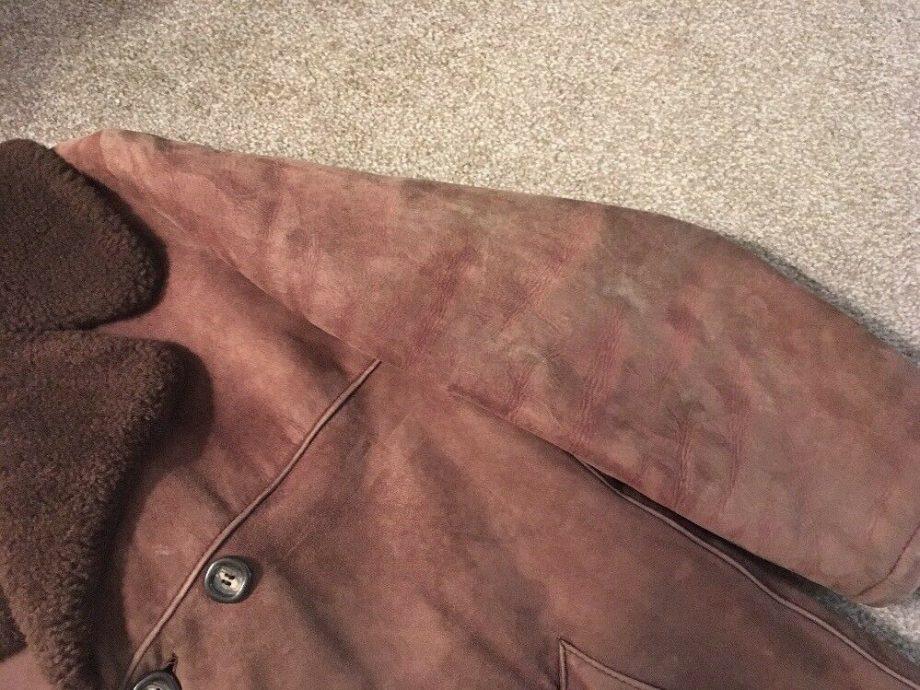 Vintage Mens Shearling Brown Jacket, Size L