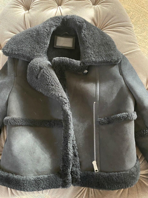 All Saints Malvern Sheepskin Shearling Jacket