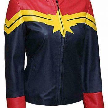 Captain Marvel Carol Danvers Stylish Leather Jacket
