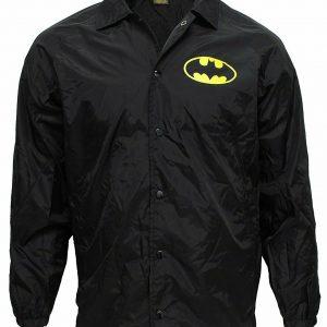 Batman Logo Windbreaker Jacket Men's Black