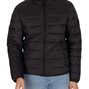 Jack & Jones Men's Magic Collar Puffer Jacket, Black