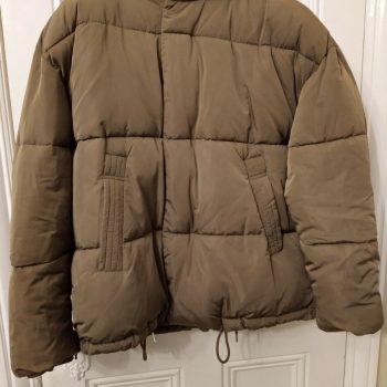 Zara Toffee Puffer Jacket Men,s Size S-M