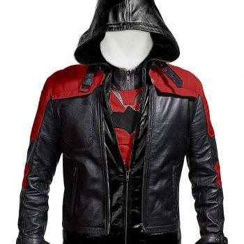 Batman Arkham Knight Game Red Hood Leather Jacket