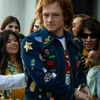 Rocketman Blue Denim Jacket Elton John Rockstar