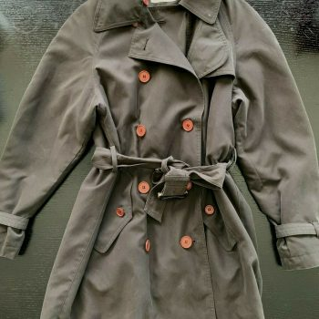 Calvin Klein brown rain repellant fully lined trench coat with belt size xs