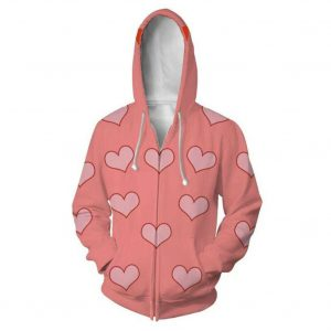 Birds of Prey Harley Quinn Pajamas Heart Patterned Hoodie