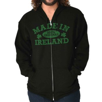 Made In Ireland Gift Adult Zip Hoodie Jacket Sweatshirt