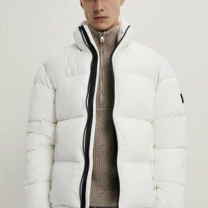 Zara White Puffer Jacket Size M Bnwt