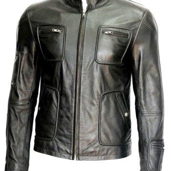 Star Trek Style Black Soft Napa Leather Jacket