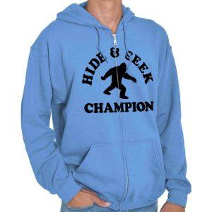 Hide And Seek Champion Bigfoot Sasquatch Adult Zip Hoodie Jacket Sweatshirt