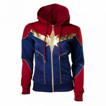 Captain Marvel Brie Carol Ladies Danvers Casual Style Fleece Jacket