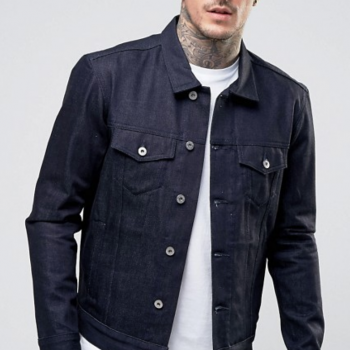 *NEW* EDWIN JEANS High Road Jacket in Dark Blue Unwashed. Size M