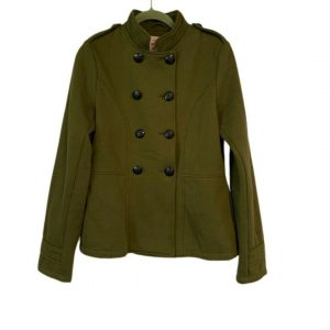Mossimo Supply Co Women Army Green Military Poly Cotton Jacket
