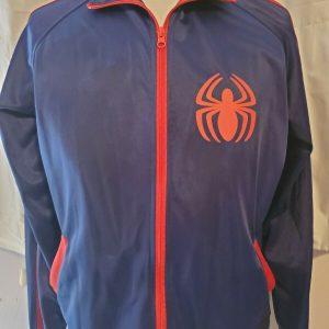 Marvel Avengers Spiderman Logo Full Zip Blue Jacket Size L