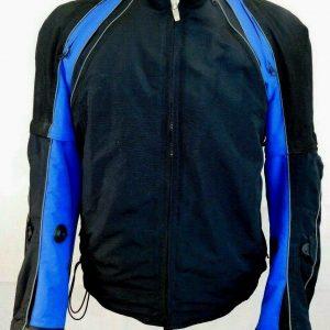 Joe Rocket Men's Size Large Blue Black Padded Motor Sports Racing Jacket