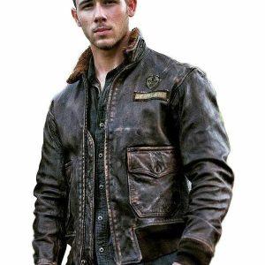 Nick Jonas (Alex) Brown Jumanji Genuine Leather Jacket